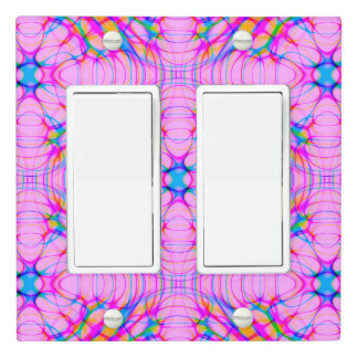 Pastel Pink Kaleidoscope Pattern Abstract Light Switch Cover