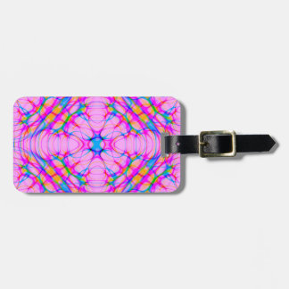 Pastel Pink Kaleidoscope Pattern Abstract Luggage Tag