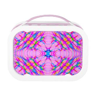 Pastel Pink Kaleidoscope Pattern Abstract Lunch Box