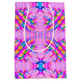 Pastel Pink Kaleidoscope Pattern Abstract Medium Gift Bag