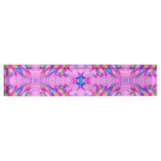 Pastel Pink Kaleidoscope Pattern Abstract Nameplate