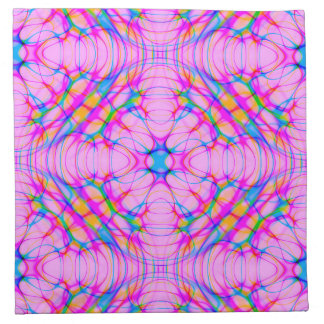 Pastel Pink Kaleidoscope Pattern Abstract Napkin