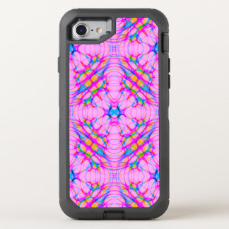 Pastel Pink Kaleidoscope Pattern Abstract OtterBox Defender iPhone 8/7 Case