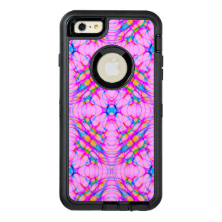 Pastel Pink Kaleidoscope Pattern Abstract OtterBox Defender iPhone Case