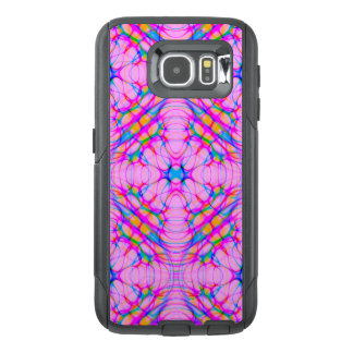 Pastel Pink Kaleidoscope Pattern Abstract OtterBox Samsung Galaxy S6 Case