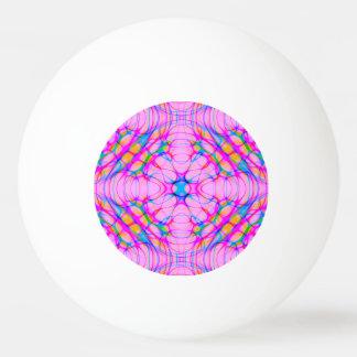Pastel Pink Kaleidoscope Pattern Abstract Ping Pong Ball