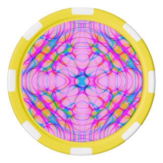 Pastel Pink Kaleidoscope Pattern Abstract Poker Chips