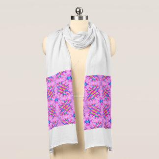 Pastel Pink Kaleidoscope Pattern Abstract Scarf Wrap