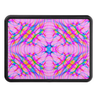 Pastel Pink Kaleidoscope Pattern Abstract Trailer Hitch Cover