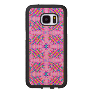Pastel Pink Kaleidoscope Pattern Abstract Wood Samsung Galaxy S7 Case