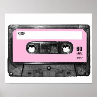 Pastel Pink Label Cassette Poster