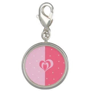 pastel pink love heart geometric triangles pattern charm