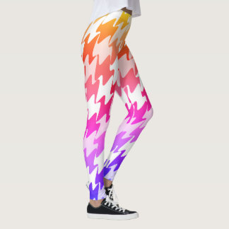 Pastel Pink Orange Yellow Purple Leggings