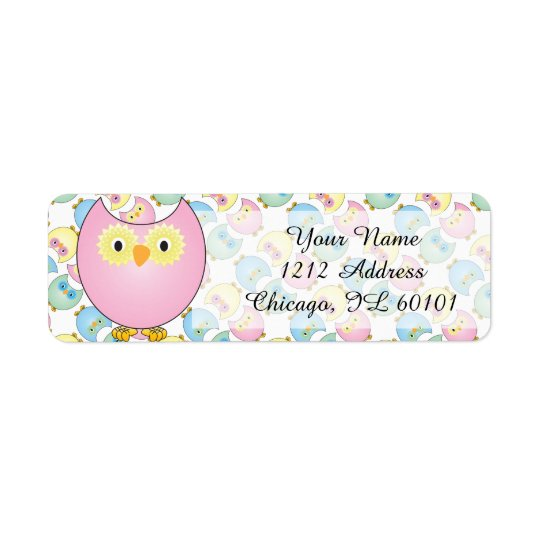 Pastel Pink Owl Baby Shower Theme