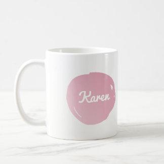 Pastel Pink Paint Splotch Customizable Coffee Mug