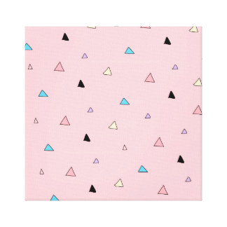 Pastel Pink Pieces Candy Chips Geometric Triangles Canvas Print