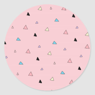 Pastel Pink Pieces Candy Chips Geometric Triangles Stickers
