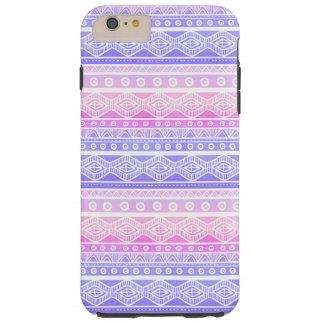 Pastel Pink Purple Aztec Tough iPhone 6 Plus Case