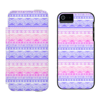 Pastel Pink Purple Aztec Watson™ iPhone 5 Case Incipio Watson™ iPhone 5 Wallet Case