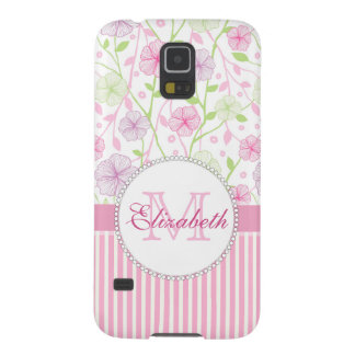 Pastel pink, purple, flowers, pink & white stripes case for galaxy s5