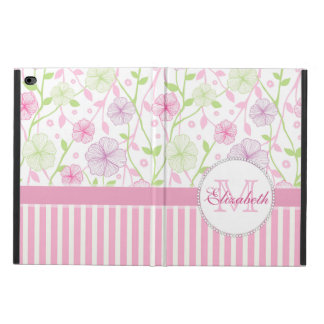 Pastel pink, purple, flowers, pink & white stripes powis iPad air 2 case