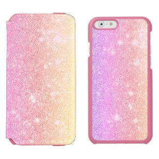 Pastel Pink Purple Glitter Shine Look Incipio Watson™ iPhone 6 Wallet Case