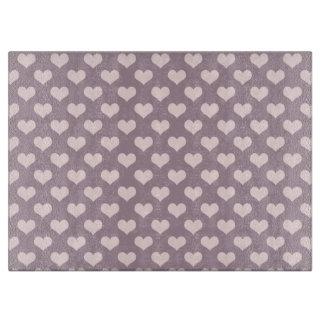 pastel pink purple love hearts polka dots pattern boards
