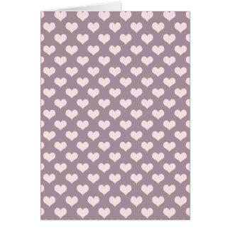 pastel pink purple love hearts polka dots pattern card