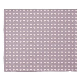 pastel pink purple love hearts polka dots pattern duvet cover