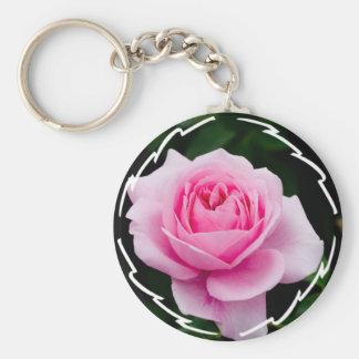 Pastel Pink Rose Keychain