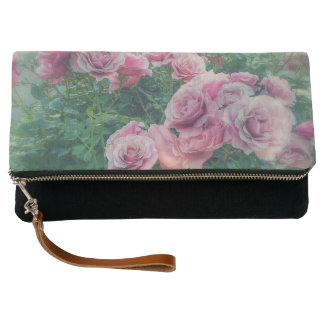 Pastel Pink Roses Clutch