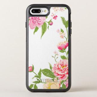 Pastel Pink Roses Modern Illustration OtterBox Symmetry iPhone 8 Plus/7 Plus Case