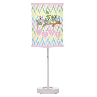 Pastel Pink Squirrel Nursery Theme Design Table Lamp
