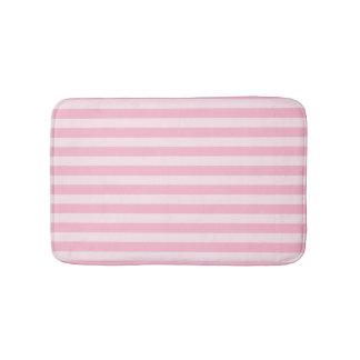 Pastel Pink Striped Bath Mats