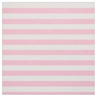 Pastel Pink Striped Fabric