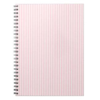 Pastel Pink Stripes. Notebooks