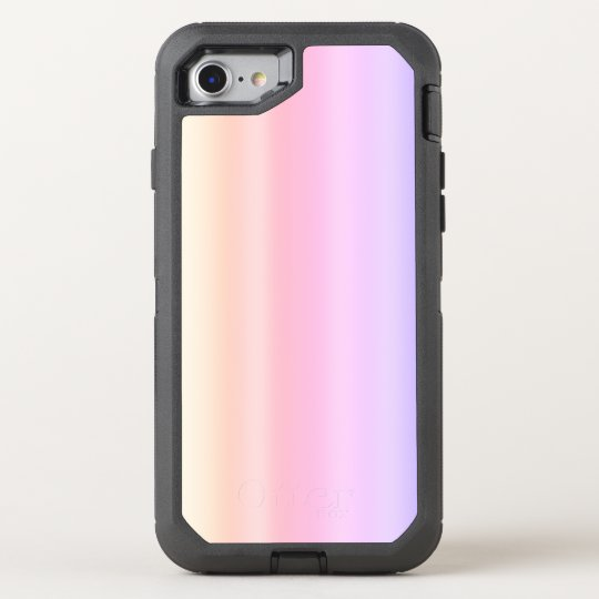 Pastel Pink Taffy Ombre Gradient Kawaii OtterBox Defender iPhone 7 Case