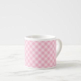 Pastel Pink Tartan Espresso Cup