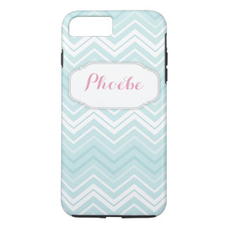 Pastel Pink & Teal Chevron Zigzag Personalized iPhone 7 Plus Case