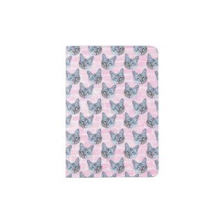 Pastel Pink Tito Cat Passport Holder