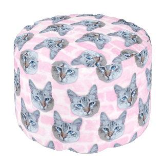 Pastel Pink Tito Cat Pouf