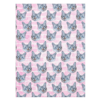 Pastel Pink Tito Cat Tablecloth