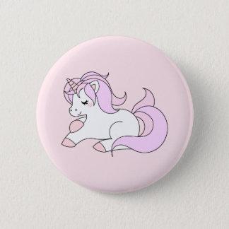 Pastel pink unicorn 2 inch round button