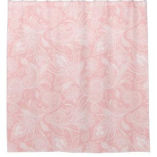Pastel Pink &White Ornate Paisley