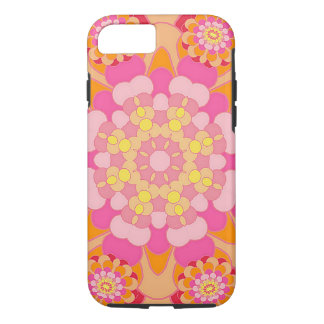 Pastel Pink Yellow Orange Nouveau Deco Pattern iPhone 8/7 Case