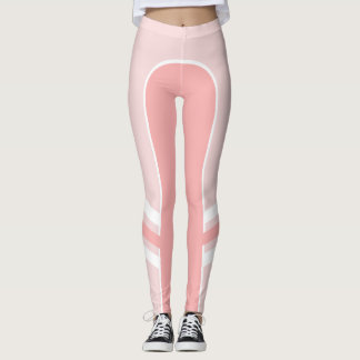 Pastel Pinks Side Band Leggings