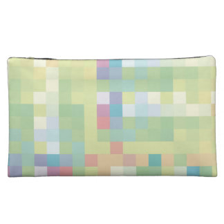 Pastel Pixel Clutch Cosmetic Bags