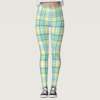Pastel Plaid Leggings
