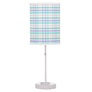 Pastel Plaid Table Lamp
