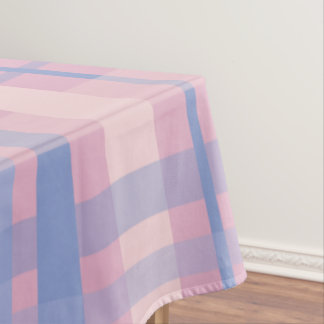 Pastel Plaid Tablecloth